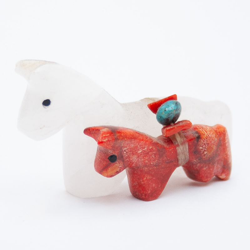 Mare Calf Horse Carving