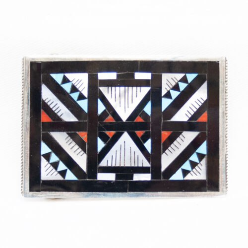 Multicolour Zuni Belt Buckle
