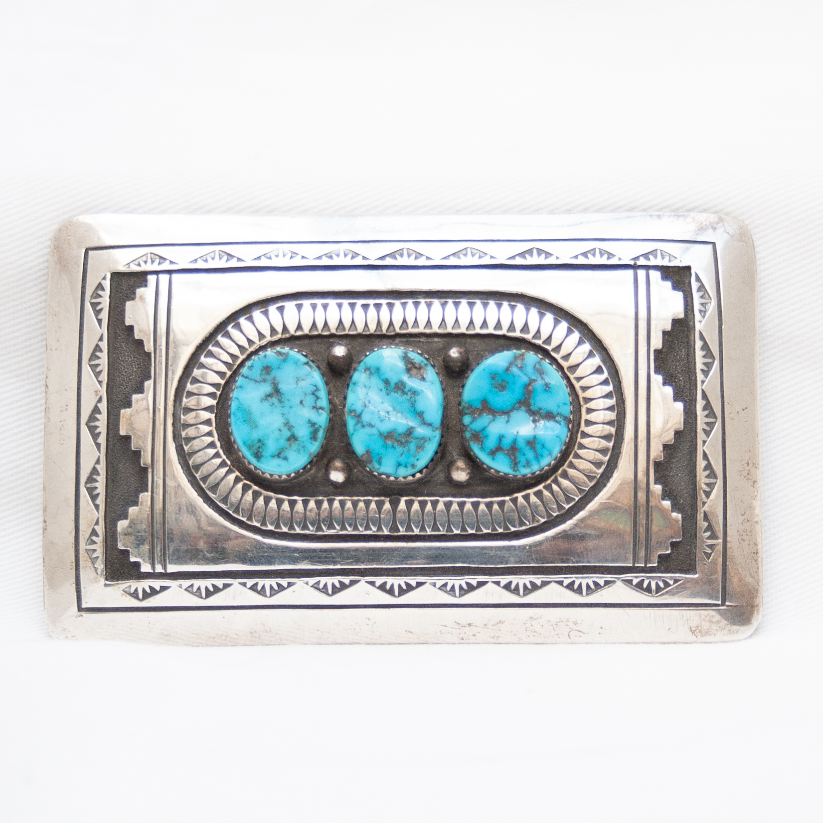 NS Begay Large Triple Turquoise Belt Buckle