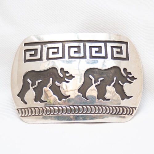Rosco Scott Sterling Silver Bear Belt Buckle