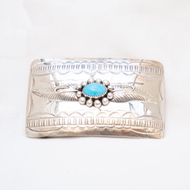 Silver Turquoise Navajo Buckle