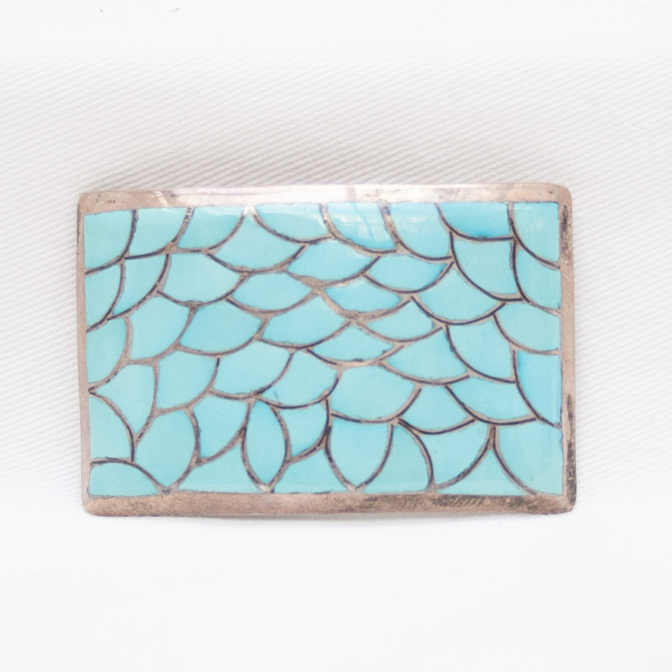 Turquoise Inlay Belt Buckle