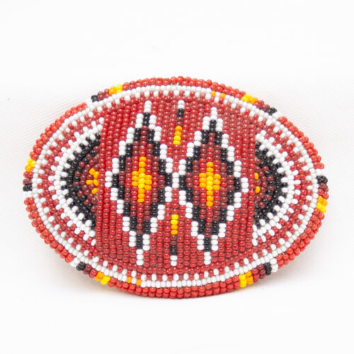 Red Beaded Belt Buckle