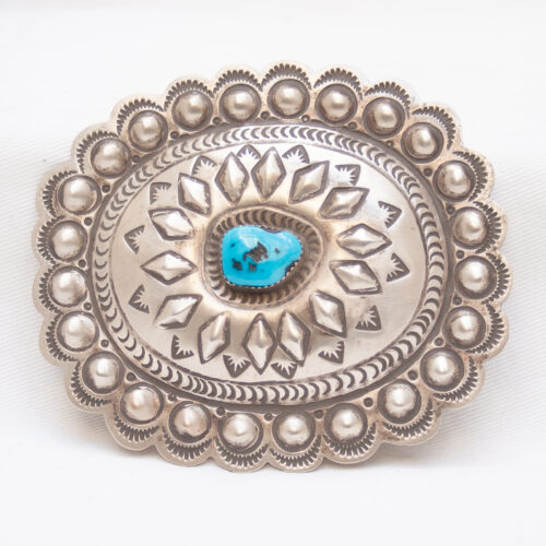 Turquoise Concho Belt Buckle