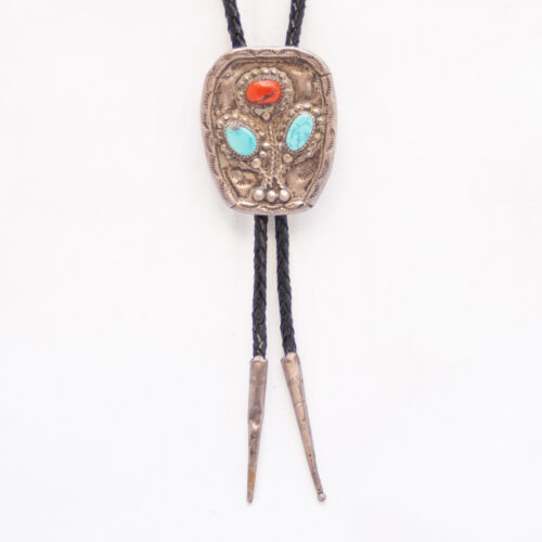 Turquoise Coral Bolo Tie