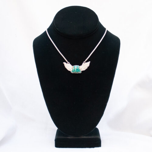 Amazonite Angel Necklace