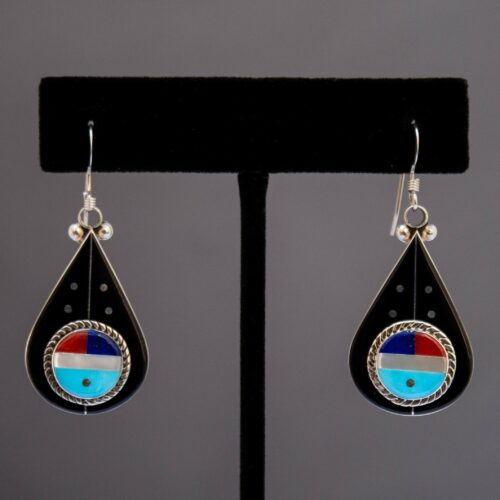 Leavus Ahiyite Cosmic Kachina Drop Earrings