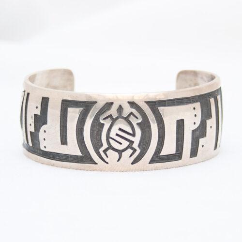 Guy Josytewa Silver Turtle Hopi Bracelet