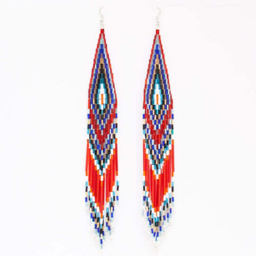 Red Beaded Earrings