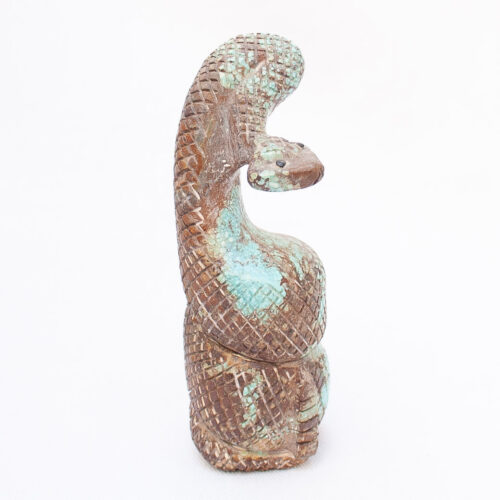 Turquoise Snake Carving