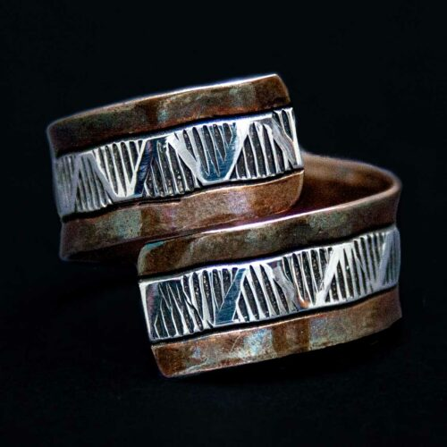 Wylie Secatero Copper Silver Ring