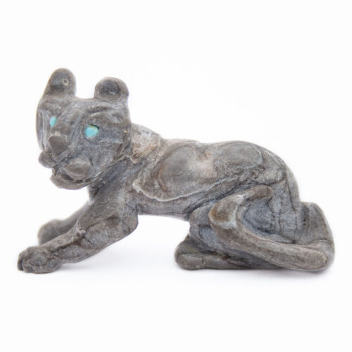 Dan Quam Mountain Lion Cub Zuni Carving