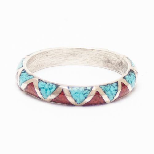 Turquoise Coral Chip Inlay