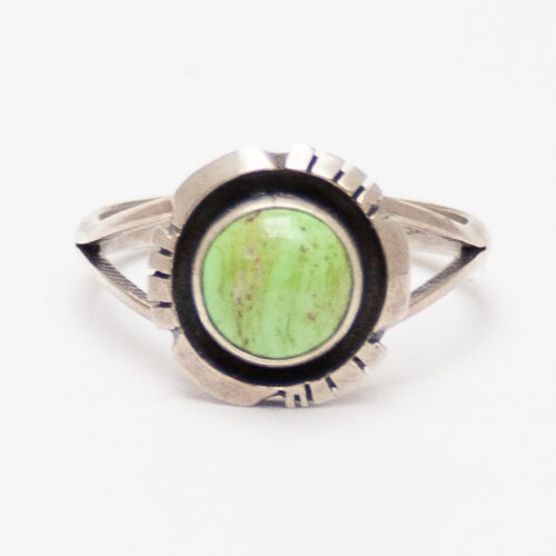 Green Variscite Navajo Ring