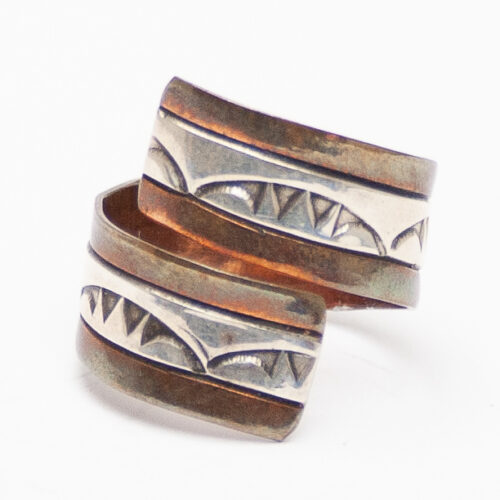 Silver Copper Wraparound Ring