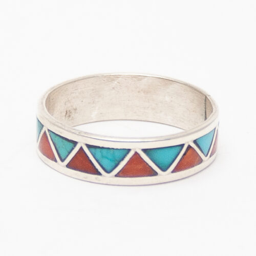 Turquoise Coral Zigzag Ring