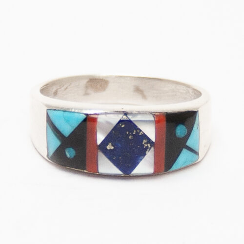Thick Multicolour Inlay Ring