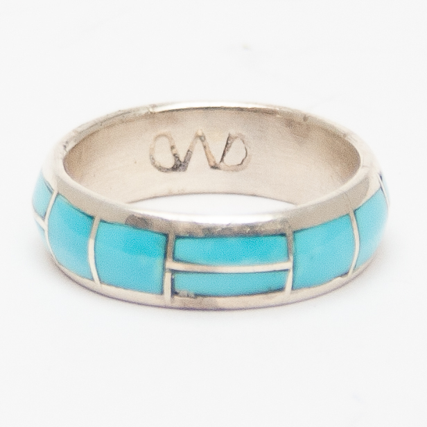 Turquoise Inlay Dome Ring