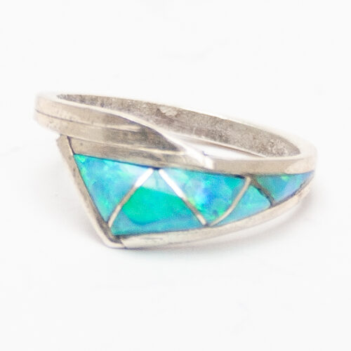 Blue Opal Wave Ring