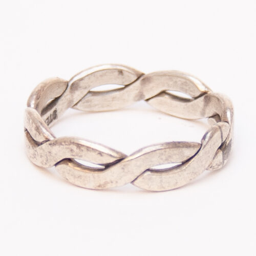 Interlace Design Silver Ring