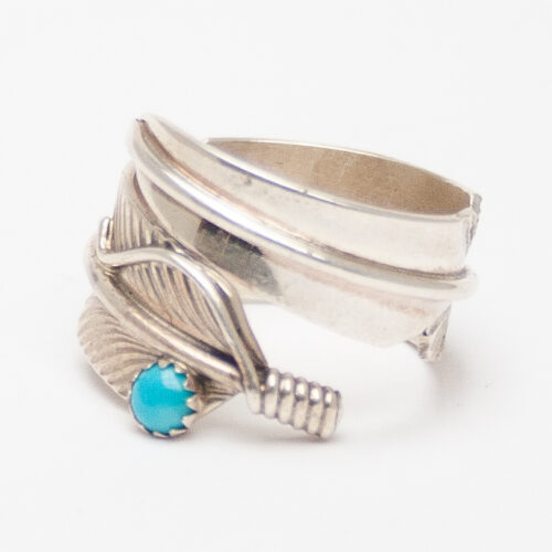 Charley Feather Turquoise Ring