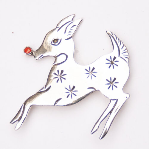 Lee Charley Silver Deer Pin Brooch