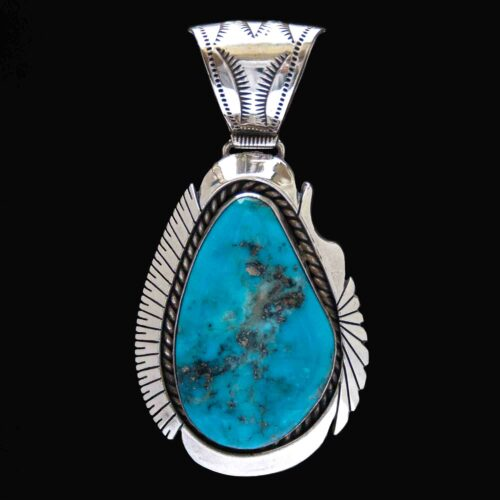 Native American Navajo Turquoise Silver Pendant