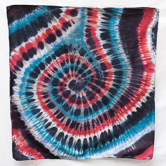 Blue Red White Face Scarf