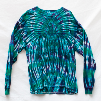 Blue Tie-Dye Jumper XL