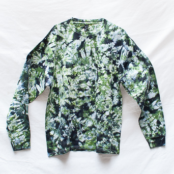 Green Tie-Dye Long-Sleeve XL