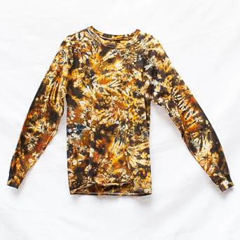 Brown Long-Sleeve T-Shirt M