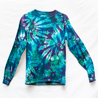 Turquoise Long-Sleeve T-Shirt S