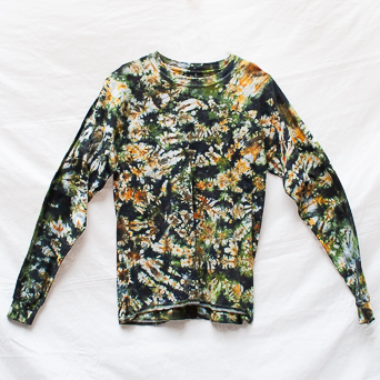 Brown Green Long-Sleeve M