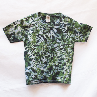 Sage Green Tie-Dye T-Shirt Youth S