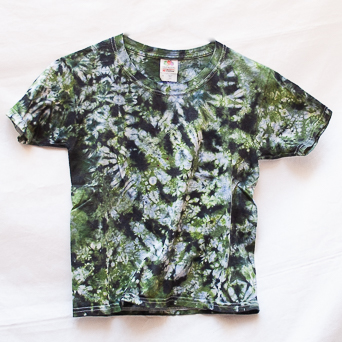 Olive Green Tie-Dye T-Shirt Youth S