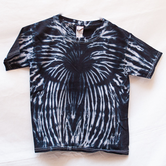 Black White Tie-Dye T-Shirt Youth S