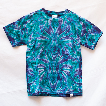 Blue Purple Tie-Dye T-Shirt Youth S