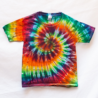 Rainbow Tie-Dye T-Shirt Youth S