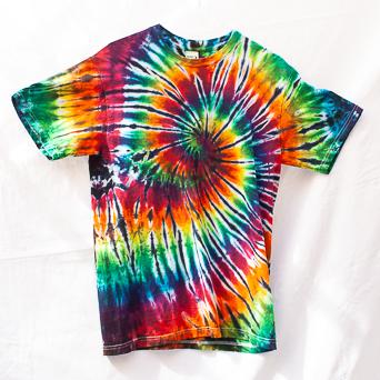 Rainbow Tie-Dye T-Shirt M