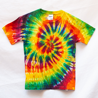Yellow Tie-Dye Kids T-Shirt S