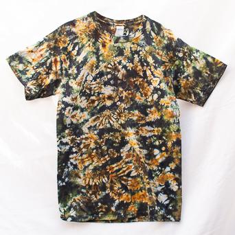 Yellow Green Tie-Dye T-Shirt M