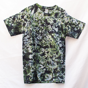 Camouflage Green Tie-Dye T-Shirt M