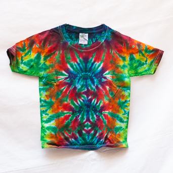 Multicolour Tie-Dye Kids T-Shirt