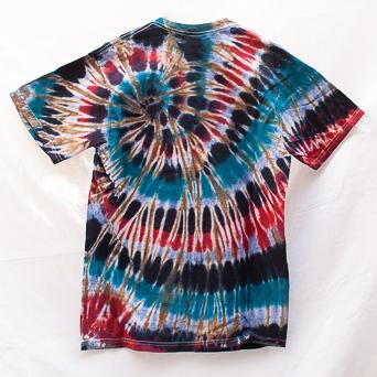 Red Blue Brown T-Shirt M