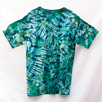 Blue Green Tie-Dye T-Shirt L