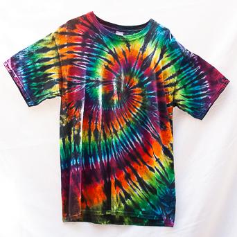 Spiral Tie-Dye T-Shirt Size Large