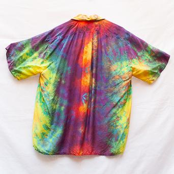 Multicolour Summer Silk Shirt L