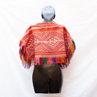 Multicolour Vintage Peruvian Poncho