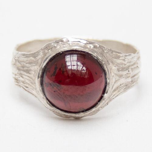 Almandine Garnet Sterling Silver Ring