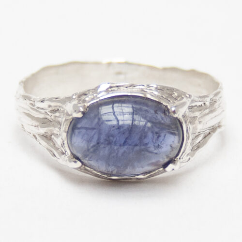 Blue Iolite Sterling Silver Ring
